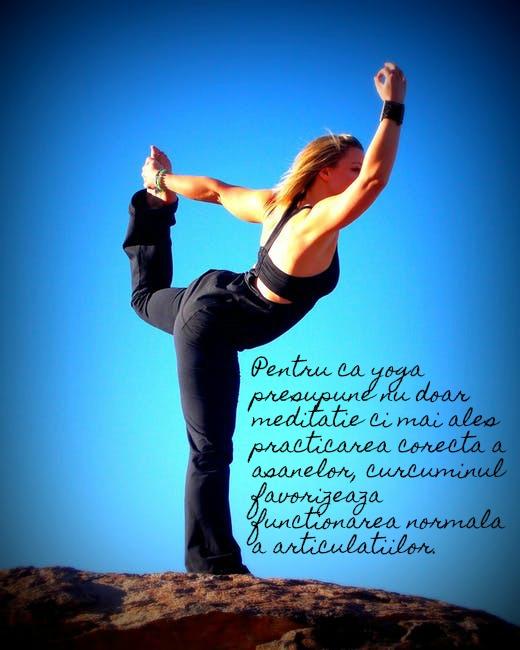 Pasionat de yoga? Atunci ai nevoie de Extract95 Curcumin&BioPerine!